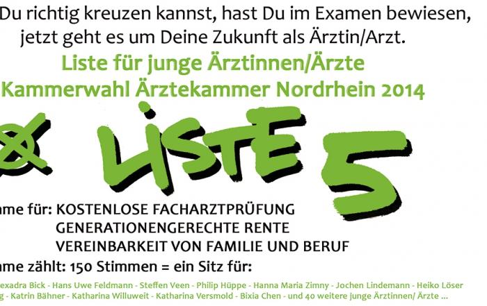 Ärztekammerwahl Nordrhein 2014